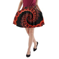 Chinese Lantern Festival For A Red Fractal Octopus A Line Pocket Skirt