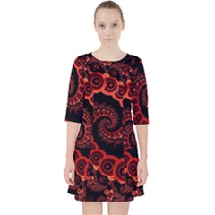 Chinese Lantern Festival For A Red Fractal Octopus Pocket Dress