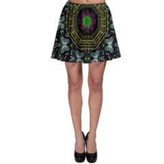 Leaf Earth And Heart Butterflies In The Universe Skater Skirt