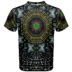 Leaf Earth And Heart Butterflies In The Universe Men s Cotton Tee