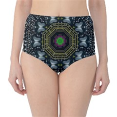 Leaf Earth And Heart Butterflies In The Universe High Waist Bikini Bottoms