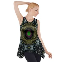 Leaf Earth And Heart Butterflies In The Universe Side Drop Tank Tunic