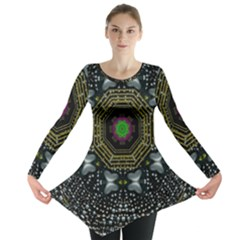 Leaf Earth And Heart Butterflies In The Universe Long Sleeve Tunic