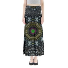 Leaf Earth And Heart Butterflies In The Universe Full Length Maxi Skirt
