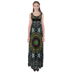 Leaf Earth And Heart Butterflies In The Universe Empire Waist Maxi Dress