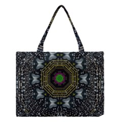 Leaf Earth And Heart Butterflies In The Universe Medium Tote Bag