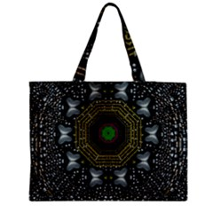 Leaf Earth And Heart Butterflies In The Universe Zipper Medium Tote Bag