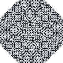 Scales2 Black Marble & Silver Glitter Straight Umbrellas