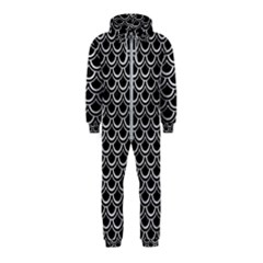 Scales2 Black Marble & Silver Glitter (r) Hooded Jumpsuit (kids)