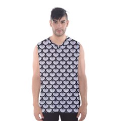 Scales3 Black Marble & Silver Glitter Men s Basketball Tank Top