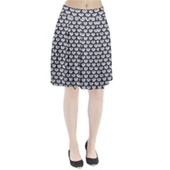 Scales3 Black Marble & Silver Glitter Pleated Skirt