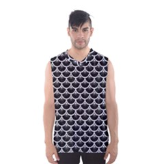 Scales3 Black Marble & Silver Glitter (r) Men s Basketball Tank Top