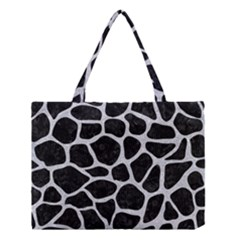 Skin1 Black Marble & Silver Glitter Medium Tote Bag