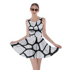 Skin1 Black Marble & Silver Glitter (r) Skater Dress