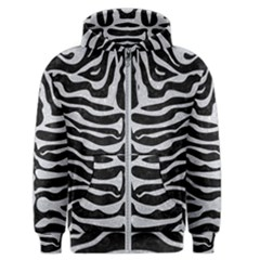 Skin2 Black Marble & Silver Glitter (r) Men s Zipper Hoodie