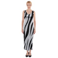 Skin3 Black Marble & Silver Glitter Fitted Maxi Dress