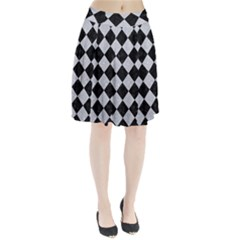 Square2 Black Marble & Silver Glitter Pleated Skirt
