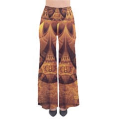 Beautiful Gold And Brown Honeycomb Fractal Beehive Pants