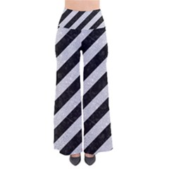 Stripes3 Black Marble & Silver Glitter (r) Pants