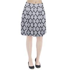 Tile1 Black Marble & Silver Glitter Pleated Skirt
