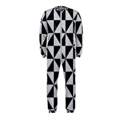 Triangle1 Black Marble & Silver Glitter Onepiece Jumpsuit (kids)