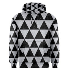 Triangle3 Black Marble & Silver Glitter Men s Pullover Hoodie