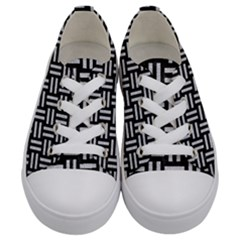 Woven1 Black Marble & Silver Glitter (r) Kids  Low Top Canvas Sneakers