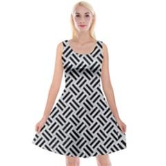 Woven2 Black Marble & Silver Glitter Reversible Velvet Sleeveless Dress