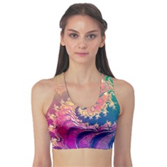 Rainbow Octopus Tentacles In A Fractal Spiral Sports Bra
