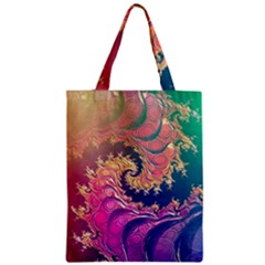 Rainbow Octopus Tentacles In A Fractal Spiral Classic Tote Bag