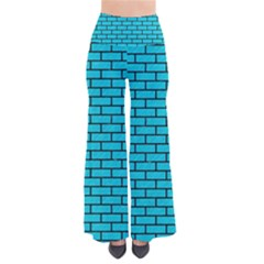 Brick1 Black Marble & Turquoise Colored Pencil Pants