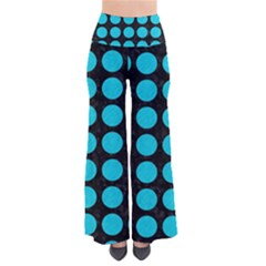 Circles1 Black Marble & Turquoise Colored Pencil (r) Pants