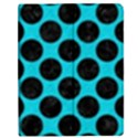 CIRCLES2 BLACK MARBLE & TURQUOISE COLORED PENCIL Apple iPad 2 Flip Case View1