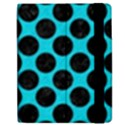 CIRCLES2 BLACK MARBLE & TURQUOISE COLORED PENCIL Apple iPad 2 Flip Case View2