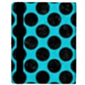 CIRCLES2 BLACK MARBLE & TURQUOISE COLORED PENCIL Apple iPad 2 Flip Case View3