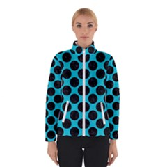 Circles2 Black Marble & Turquoise Colored Pencil Winterwear