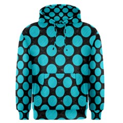 Circles2 Black Marble & Turquoise Colored Pencil (r) Men s Pullover Hoodie