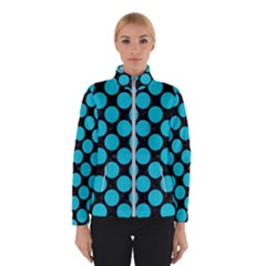 Circles2 Black Marble & Turquoise Colored Pencil (r) Winterwear