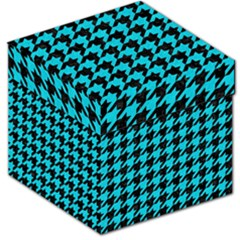 Houndstooth1 Black Marble & Turquoise Colored Pencil Storage Stool 12