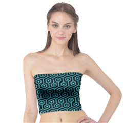 Hexagon1 Black Marble & Turquoise Colored Pencil (r) Tube Top