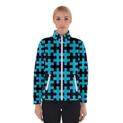 Puzzle1 Black Marble & Turquoise Colored Pencil Winterwear