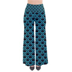 Scales2 Black Marble & Turquoise Colored Pencil (r) Pants