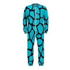 Skin1 Black Marble & Turquoise Colored Pencil (r) Onepiece Jumpsuit (kids)