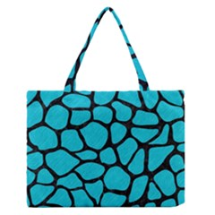 Skin1 Black Marble & Turquoise Colored Pencil (r) Zipper Medium Tote Bag