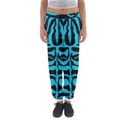 Skin2 Black Marble & Turquoise Colored Pencil (r) Women s Jogger Sweatpants