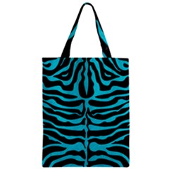 Skin2 Black Marble & Turquoise Colored Pencil (r) Zipper Classic Tote Bag