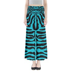 Skin2 Black Marble & Turquoise Colored Pencil (r) Full Length Maxi Skirt
