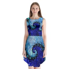 Nocturne Of Scorpio, A Fractal Spiral Painting Sleeveless Chiffon Dress