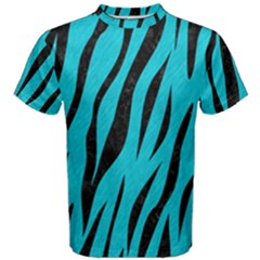 Skin3 Black Marble & Turquoise Colored Pencil Men s Cotton Tee