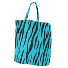 Skin3 Black Marble & Turquoise Colored Pencil Giant Grocery Zipper Tote